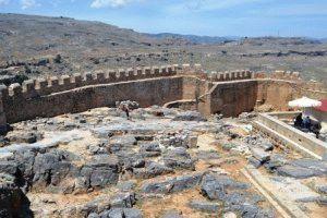 Линдос Родос, Греция – достопримечательности фото Акрополь