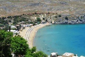 Линдос Родос, Греция – достопримечательности фото гавань
