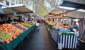 продуктовый рынок в Париже фото