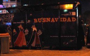 Новогодний автобус Bus Navidad в Мадриде