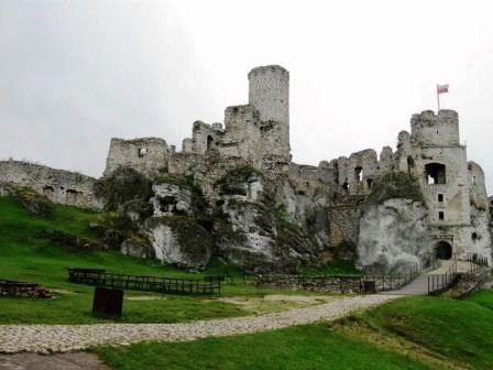 Замок Огродзенец (руины) Силезия Польша фото
