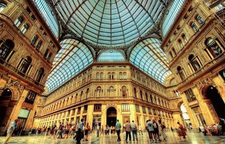 Galleria Umberto I Галерея Умберто I Неаполь Италия фото