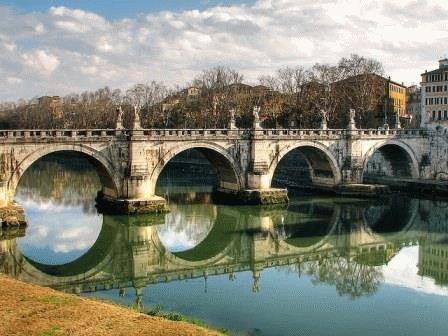 Ponte Sant'Angelo мост Святого Ангела Рим фото