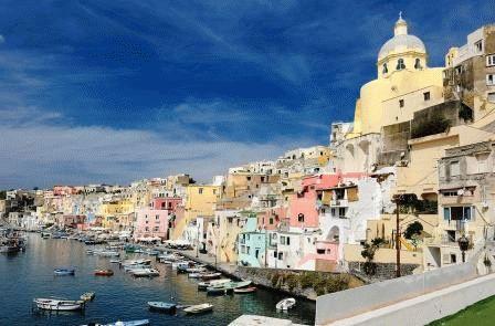 Прочида Италия город фото