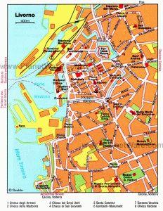 Карта Ливорно Италия скачать