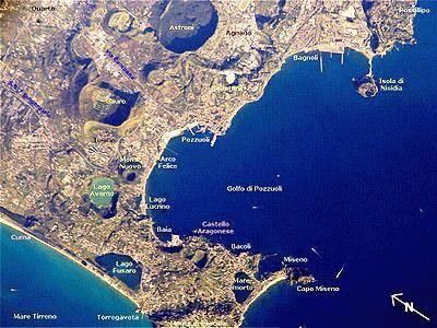 Флегрейские поля (Италия) карта