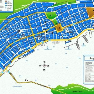 карта города Аргостоли