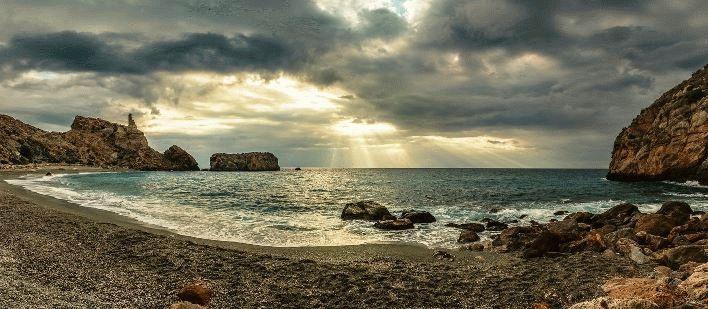 на пляже Рихана