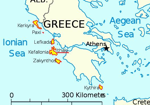 где находится Итака на карте Греции