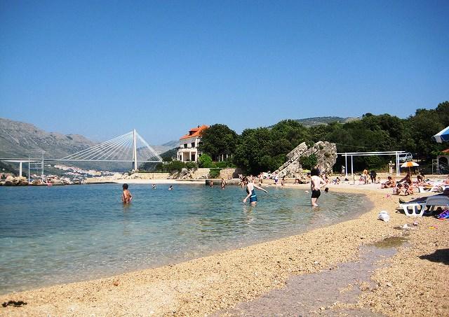 главный городской пляж Дубровника