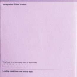 Как заполнить Landing Card UK: образец заполнения