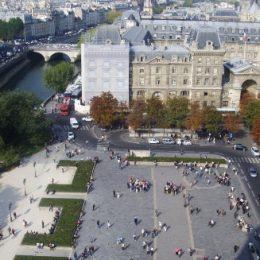 Вид на Париж с Notre-Dame — фото